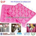 encantadora populares de silicona de color rosa pastel de la decoración de stands con 20 libre palos