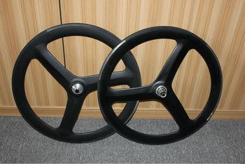 Full carbon three spoke wheelset road bike wheels 60mm 3 spoke wheelset tubular