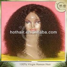 Hotsale short afro kinky lace human hair wigs