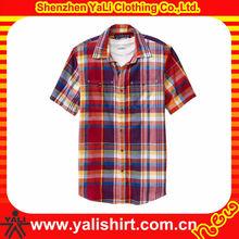 Men Plaid Regular Fit Chest Pocket Shirts