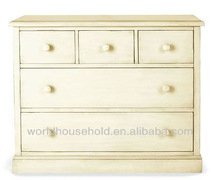 wooden cabinet, rustic white color, storage for clothes