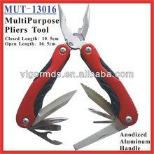 "(MUT-13016) 65"" Red Anodized Aluminum Handle MultiPurpose Pliers Tool"