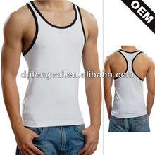 China manufactuerer cotton spandex cheap blank custom men tank top