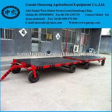 heavy equipment transport low bed flat top trailer