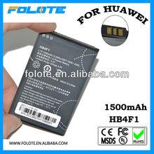 High capacity 1500mah 3.7V HB4F1 batery for Huawei C8600 E5 C8800 E5830 U8800 U8230 U8220 AKKU