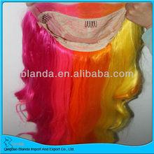 High temperature fibre heat resistant synthetic wig