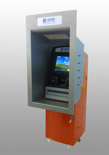 Self service payment with touchscreen through wall kiosk