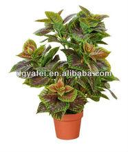 artificial purple perilla plant artificial PE leaves tree decoration home,garden,restaurant,supermarket,hotel