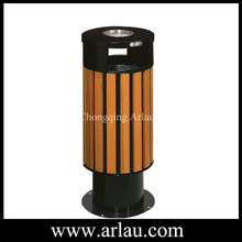 wooden garbage bin with ashtray (Arlau BW43)