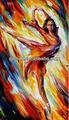 Ballet moderno dacing menina retrato da arte, alta qualidade da pintura a óleo