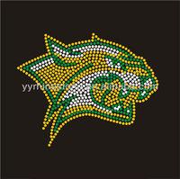 Panther Cougar Hot Fix Rhinestone Iron On Transfer