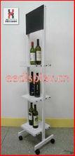 bottle holder wine/KD structure beverage displays/liquor bottle display shelf