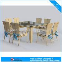 Elegant garden furniture 8 seater rattan dining set 4303