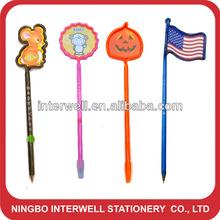 Shaped Bent Pen, Bent pen with shaped top, Fruit shaped pen