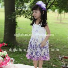 Girls summer colorful printed beautiful tea length dress patterns