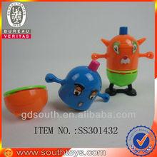 promotional plastic cartoon spinning top