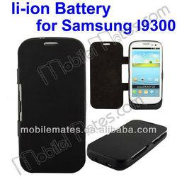 3500mAh External Li-ion Battery Power Bank Backup Battery Flip Leather Case for Samsung I 9300/Samsung Galaxy S3