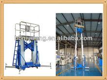 dual mast aluminium alloy lift platform