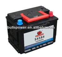 High quality Car battery 54584 DIN Standard 12v45ah automobile battery