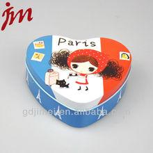 Heart shaped candy gift tin box