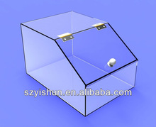 Acrylic Candy Holder Display Box Lucite Plexiglass Countertop Container
