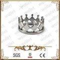 kraliyet kraliçemiz Kral hükümdarı taç Paslanmaz çelik taç yüzük şekilli