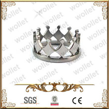 Royal Queen King Ruler Tiara stainless steel Crown Ring shaped
