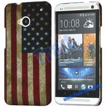 for htc phone m7 flag case Super Cheap Hot Selling !! (various colors)