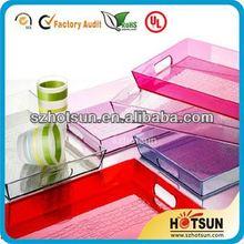 high-quality acrylic bathroom amenity tray
