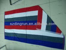 100%cotton colourful strip beach towel