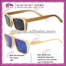 Fashion Natural Polarized Bamboo Sunglasses With UV Bamboo Frames