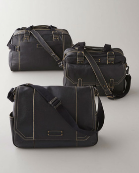 Luxury leather travel bags
