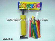 BALLOON SET W/BALOONS + PUMP + PLASTIC RACKS