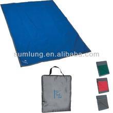 Reversible Fleece/Nylon Blanket With Carry Case - Silkscreened