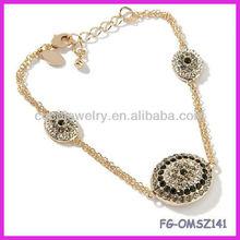 new style crystal angle eye charm gold plated alloy bracelet