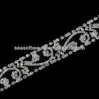 fancy clear crystal body rhinestone chain lingerie