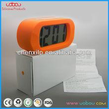 14*6.8*4.8cm big screen silicon rubber cover alarm/clock