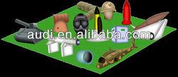 Custom inflatable paintball bunker (War Theme)