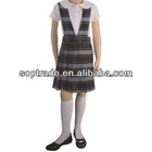 Plaid V-Neck Pleated skirt dress blouse school girl sex