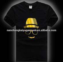 men fashion el flashing t-shirts
