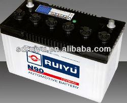 85D26L 12V 70AH JIS standard Dry charge Car battery