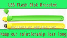 Hotsale Adorable Plastic Bracelet USB Flash Disk