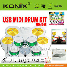 Colorful USB Colorful USB PC Desktop Digital Electronic Roll Up Drum Pad Kit MIDI