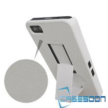 Mobile Phone Hybird Combo Case ,Shell Holster Case embossed clip Belt Clip+Stand Case For BlackBerry Z10