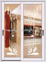 Glass paintings sliding doors/ balcony door (BG-AW9113)