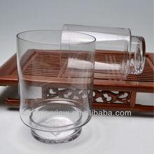 Cylinder Glass Flower Vase with Base