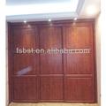 Aw42 porta corrediça de luxo em madeira armário roupeiro, hdf