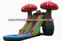 inflatable mushroom large inflatable slide with pool