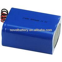 11.1V 3200mAh 17650 Li-polymer rechargeable battery