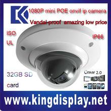 2 mega pixel mini dome web ip camera DH-IPC-HDB3200C dahua 1080P cctv ip camera ip-camera nice looking metal case
